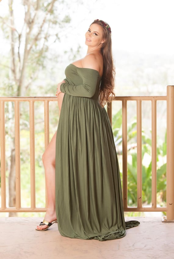 288598addf Maternity Gown Long Sleeve Dress Maternity Dress For Photo