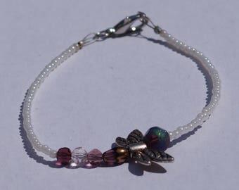 Dragonfly beaded bracelet