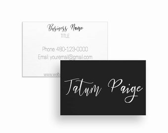 Business card template etsy business card design business card template business cards calling cards calling card modern business cards pdf download wajeb Image collections