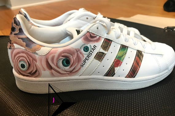 unique Rose sneaker Style « Custom art Adidas Superstar GALAXY » 3K1JcTlF