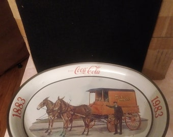 Vintage Kroger 100th Anniversary All Tin Tray
