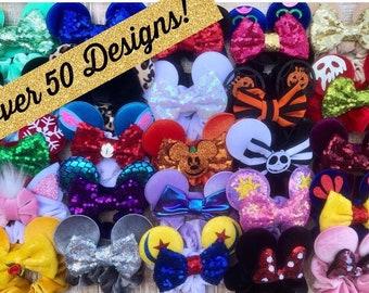 Minnie Inspired Scrunchies / Minnie Mouse Ear Scrunchies / Mickey Mouse Ears Scrunchies / Disney Inspired Scrunchies / Minnie Hair Bands