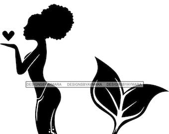 Woman Fish Clipart Etsy