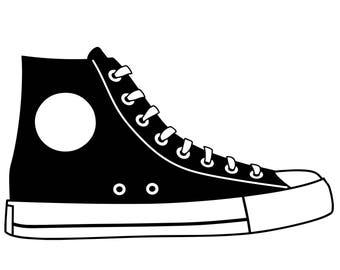 clipart tennis shoe etsy rh etsy com Shoe Clip Art Black and White clip art tennis shoes free