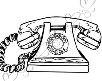 old phone clipart etsy Wall Phone phone antique telephone retro old munication receiver classic svg eps vector space clipart digital download circuit cut cutting