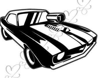 old auto etsy 1960 Chevy Truck Turquoise Tartan muscle car antique old classic retro transport automobile auto svg eps vector space clipart digital download circuit cut cutting