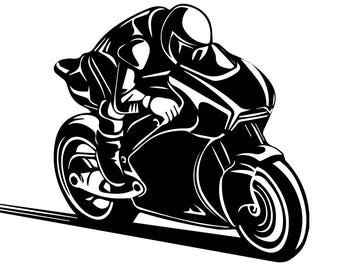 Super Bike Sports Race Speed Chopper Moto Helmet  Motorbike Biker .SVG .EPS .PNG Vector Space Clipart Digital Download Circuit Cut Cutting