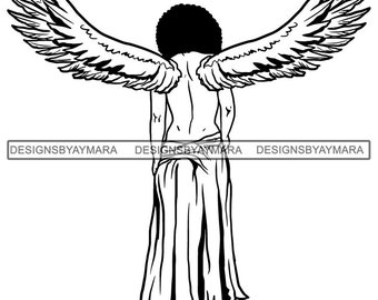 Clipart Angel African American - Black Angels Transparent , Free  Transparent Clipart - ClipartKey