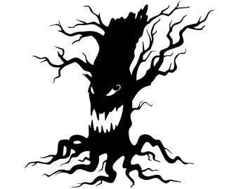 scary tree clip art etsy rh etsy com Ghost Outline Clip Art White Ghost Clip Art