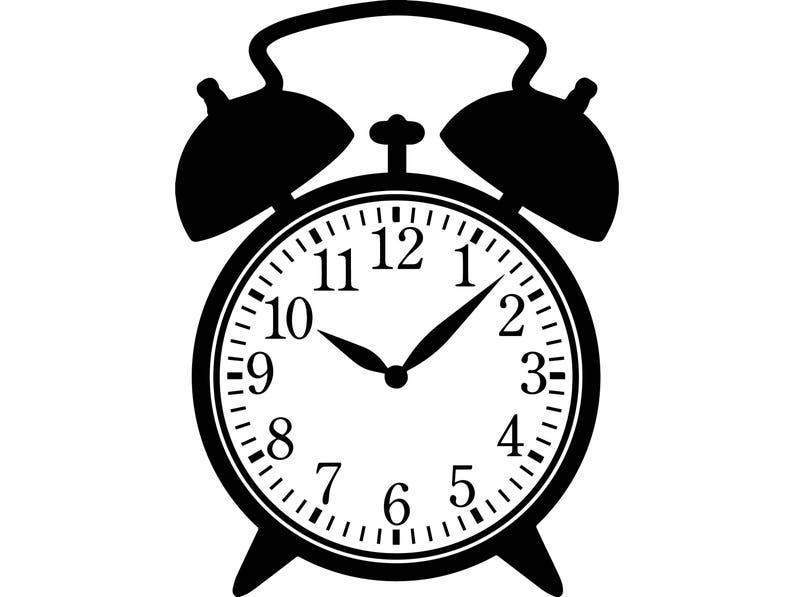 Alarm Retro Clock Time Reloj Watch Hour Circle Speed Second