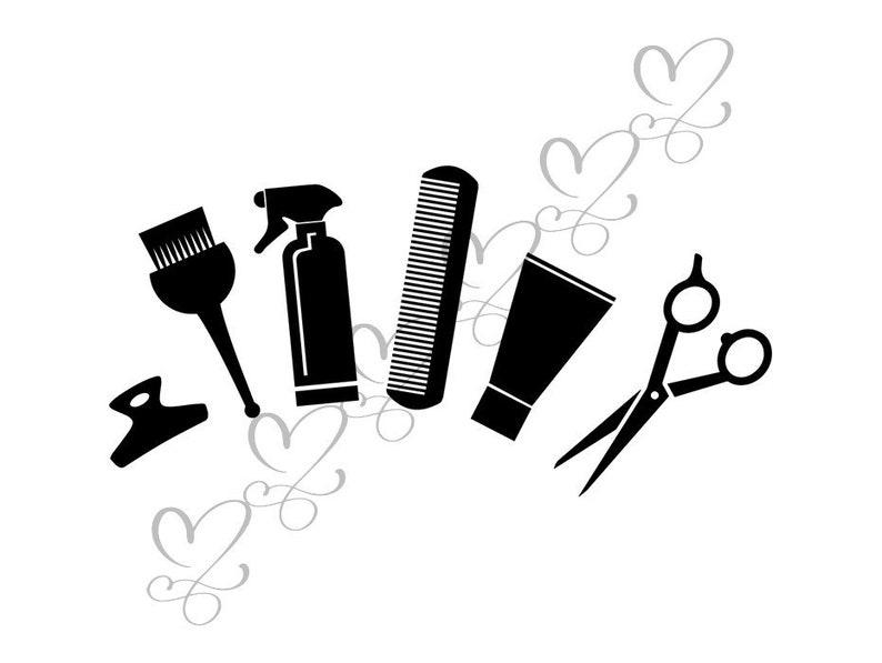 Comb Hairdresser Beauty Parlour Clip Art - Black And White Transparent PNG