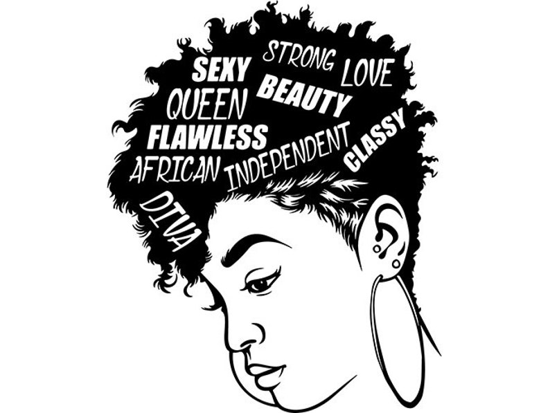 Black Woman Diva Quotes Lady Nubian Queen Mohawk Hairstyle Etsy