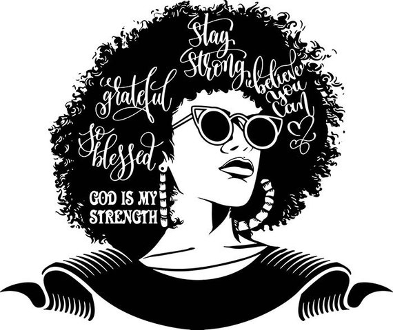 Afro Woman Svg Praying God Lord Quotes Classy Diva Lady Nubian Queen Diva   SVG  EPS  PNG Vector Clipart Digital Download Circuit Cut Cutting