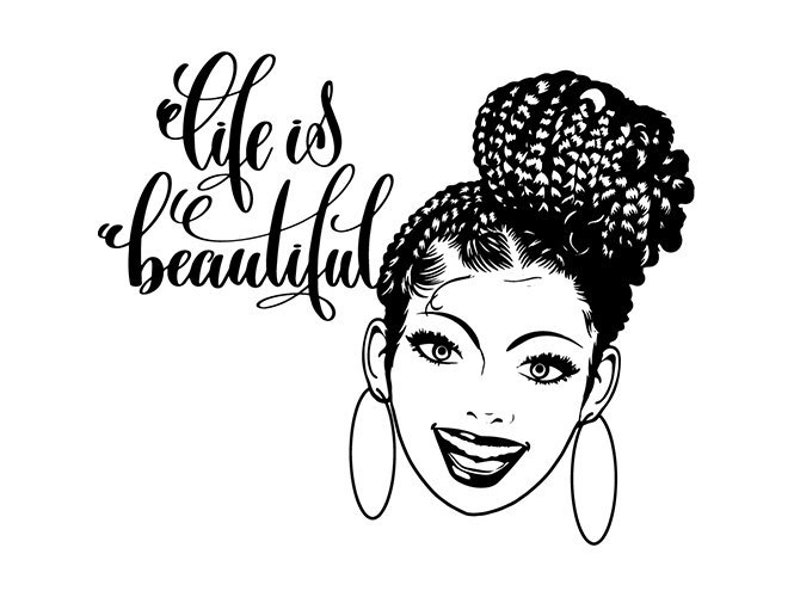 Black Woman Diva Quotes African American Braids Hairstyle Etsy