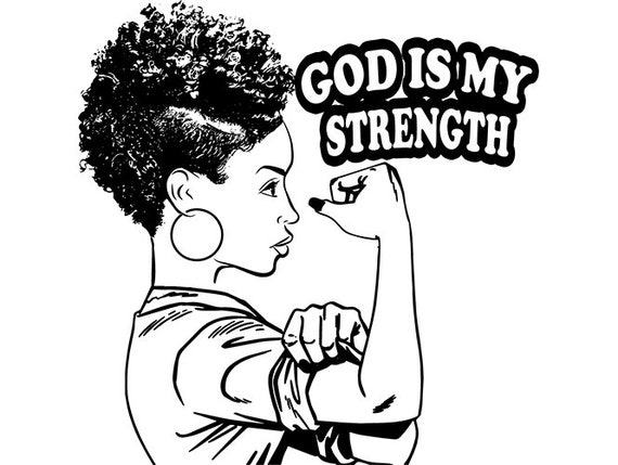 Black Woman Strong Lady African American Nubian Queen Life Quotes .SVG .EPS  .PNG Vector Space Clipart Digital Download Circuit Cut Cutting