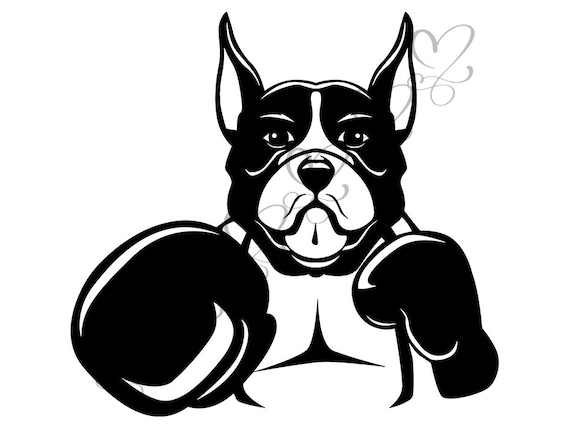 Boxing Dog Leather Punch Boxer Ring Trainer Fight Fighter Glove  SVG  EPS   PNG Vector Space Clipart Digital Download Circuit Cut Cutting