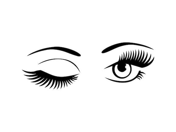 eye winking vision human female sign eyeball see watching etsy rh etsy com Cartoon Winking Eye Man Winking Clip Art