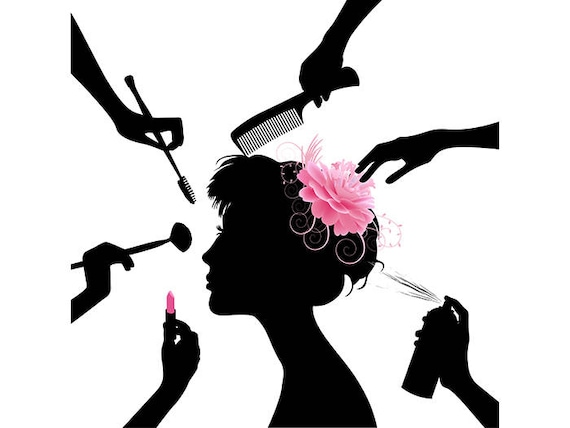 Fashion Beauty Salon: Hair Style Salon Beauty Make Up Comb Hairdresser Female