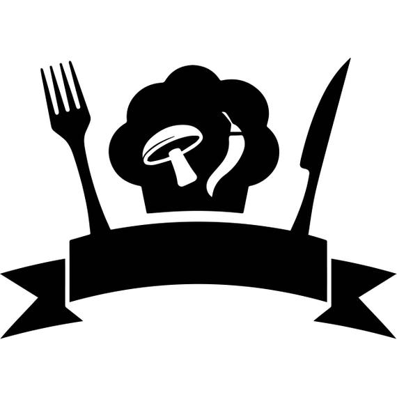kitchen chef logo business restaurant cafeteria food dining etsy