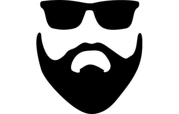 Beard Style Face Male Hairstyle Handsome Mustache Bearded Man Etsy