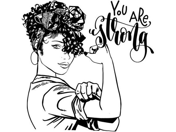 Black Woman Life Quotes Strong Diva Classy Lady Nubian Queen African  Afro.SVG .EPS .PNG Vector Clip art Digital Download Circuit Cut Cutting