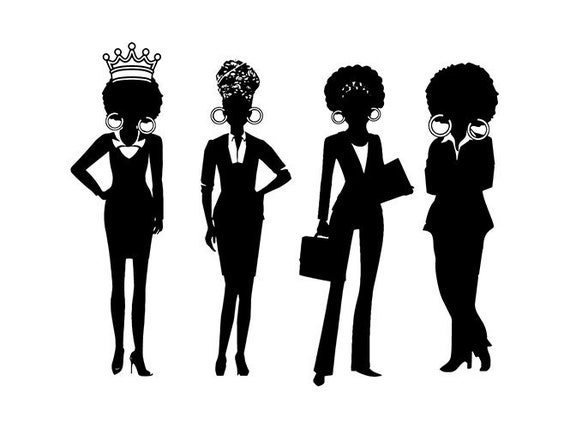Black Woman Silhouettes Diva Quotes Suits Classy Lady Nubian Etsy
