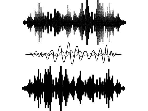 Audio Sounds Musik Design Welle Volumen Element spielen Radio | Etsy