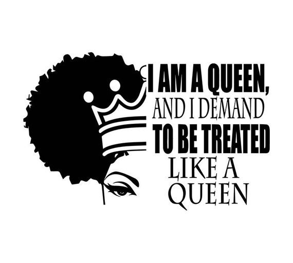 Donna Citazioni Vita Signora Nubian Principessa Queen Diva Glamour Donna Svg Eps Png Vector Clipart Digital Download Circuito Taglia Taglio