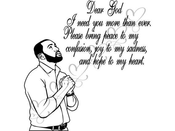 black man praying svg god quotes respect faith spiritual life
