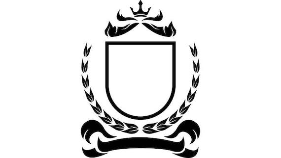 decoration shield frames logo beautiful crown cute emblem