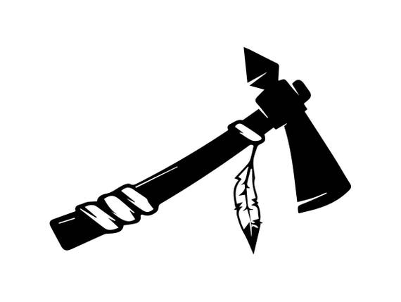 axe indian tomahawk weapon native tool war hatchet feather etsy rh etsy com tomahawk clip art free tomahawk clipart free