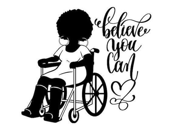 Black Woman Silhouettes Handicapped Strong Diva Queen Quotes Nubian .SVG  .EPS .PNG Vector Clip art Digital Download Circuit Cut Cutting