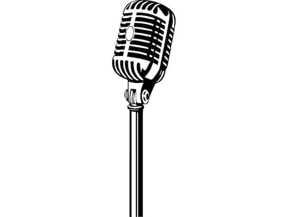 microphone singer audio voice karaoke record concert radio etsy. Black Bedroom Furniture Sets. Home Design Ideas