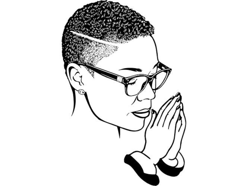 Black Latina Woman Praying God Lord Quotes African Lady Nubian Queen  Diva SVG  EPS  PNG Vector Clip art Digital Download Circuit Cut Cutting