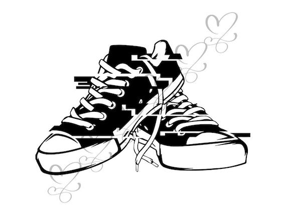 przed Sprzedaż nowy przyjeżdża wiele stylów Sneaker Shoes Casual Converse Training Isolated Fashion Sport Style  Footwear .SVG .EPS .PNG Vector Clipart Digital Circuit Cut Cutting