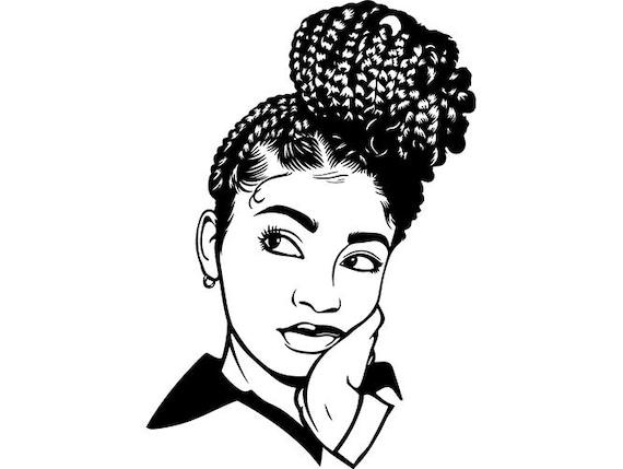 black woman braids dreads hair african american unique design