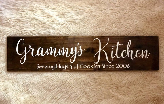 Granny's Kitchen | Granny S Kitchen Wood Sign Hand Painted 5 5 X 2 Etsy