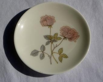 vintage wedgwood flame rose pin dish