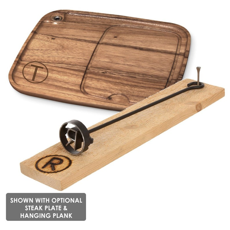 BBQ Steak Brand For Meat or Buns Wood and Leather LETTER W Steak Branding Iron For Food OnlyGifts.com Grilling Gift For Dad /& Guys
