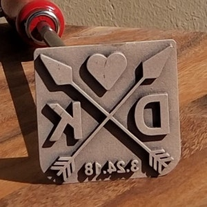 BBQ Fans Small Mouth Bass Branding Iron for Steak Wood /& Leather Buns