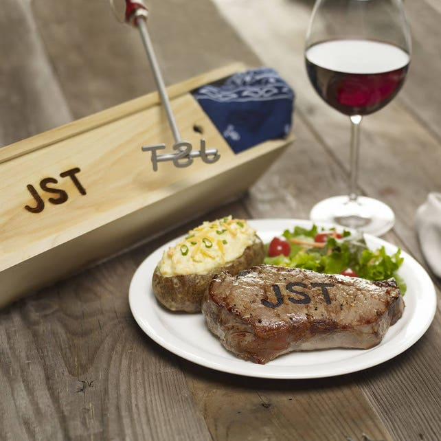Custom 2 3 Letter Branding Iron For Steak Wood And Leather Etsy