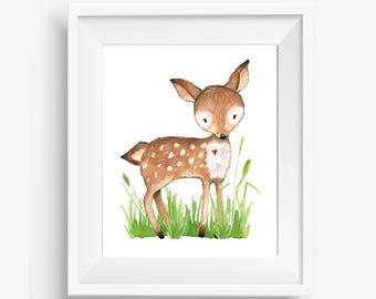 Woodland Deer, Boy Bear Nursery, Deer Nursery Decor, Woodland Nursery Prints, Baby Boy Woodland Nursery, Woodland Nursery Printable, 8x10