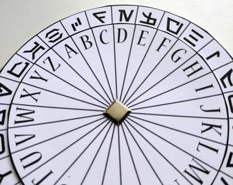 photograph about Printable Decoder Wheel identified as Cipher Wheel Spy Occasion Favors Escape Place Prop Encoder Etsy