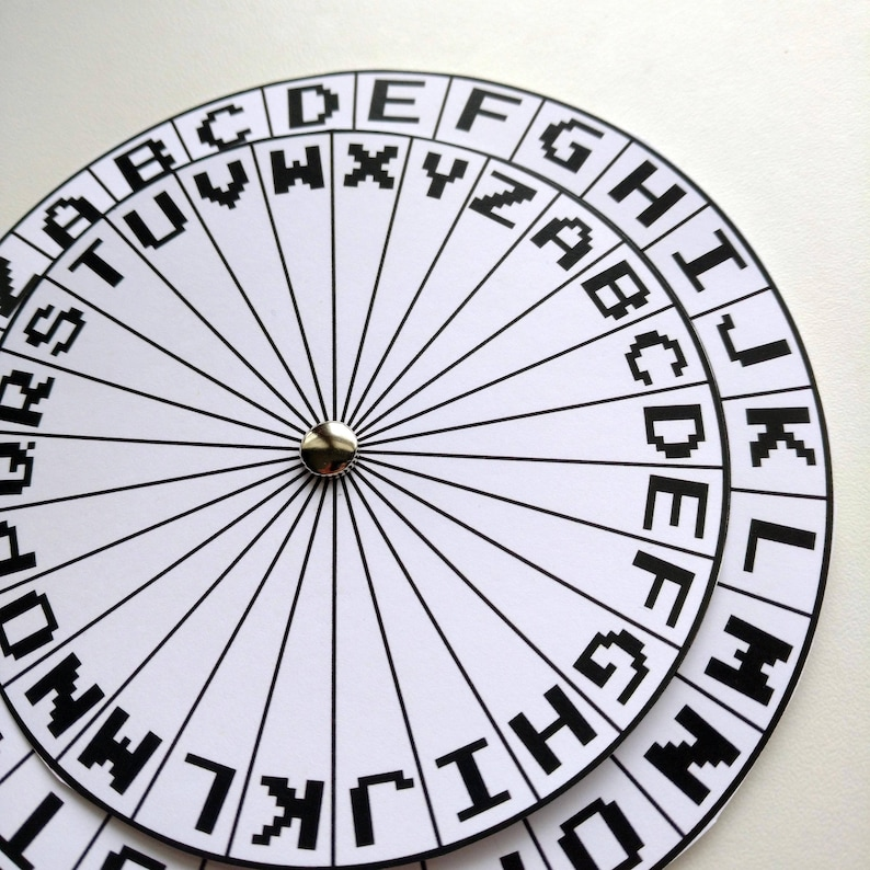 photograph relating to Printable Cipher Wheel identified as Spy Decoder Cipher Wheel Printable - Top secret Consultant Coded Information Encoder Decryption Electronic Document