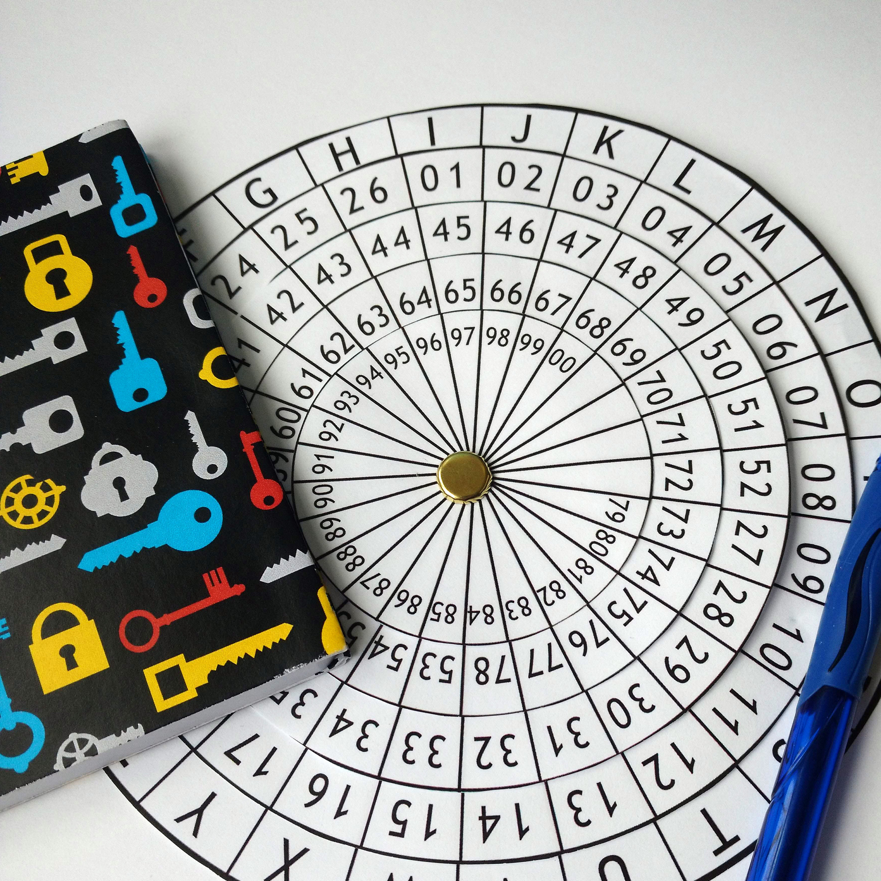 It is a photo of Terrible Printable Cipher Wheel