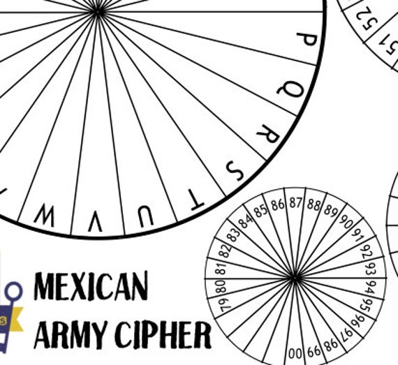 graphic relating to Printable Cipher Wheel known as Mexican Armed forces Cipher Disk, Spy Occasion Printables, Escape Space Favors, Decoder Wheel, Mystery Consultant Bash Favors, Code Most important, Rainy Working day Actions