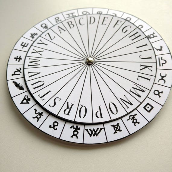 photo about Printable Decoder Wheel identify Hieroglyphics Symbols Cipher Disk, Spy Social gathering Favors, Escape Place Prop, Encoder Decoder, Solution Consultant Things to do, Solution Sport Top secret Concept