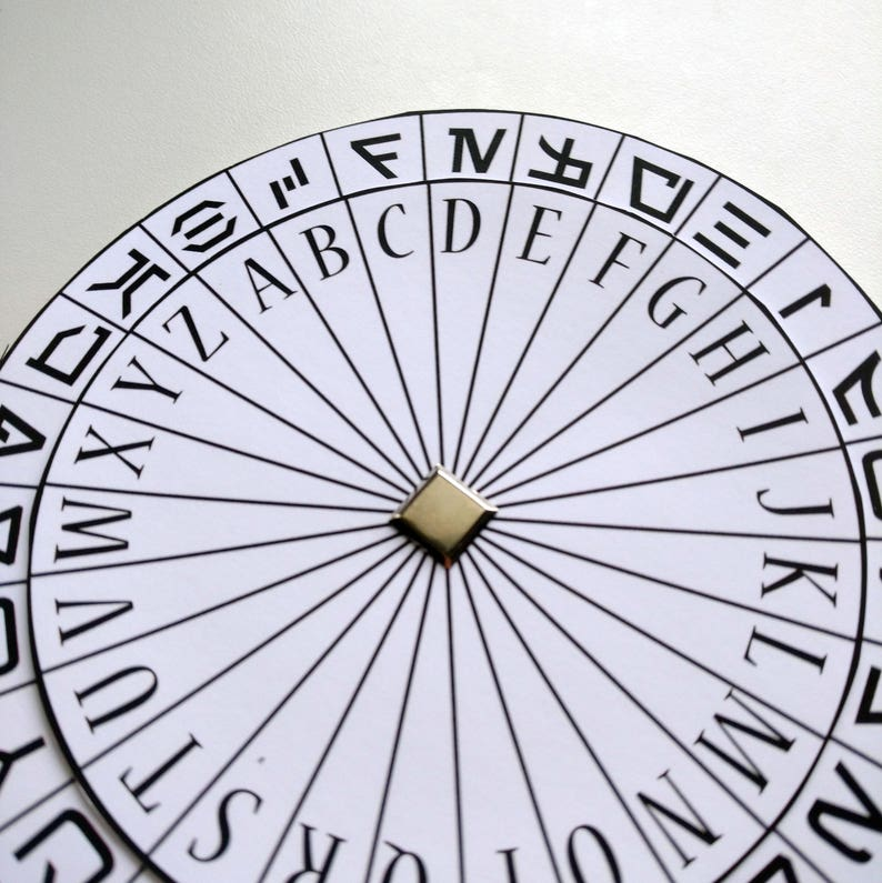 graphic relating to Printable Cipher Wheel known as cipher wheel printable, spy celebration favors, solution representative actions, escape space get together video games printable, concealed information, decoder wheel,
