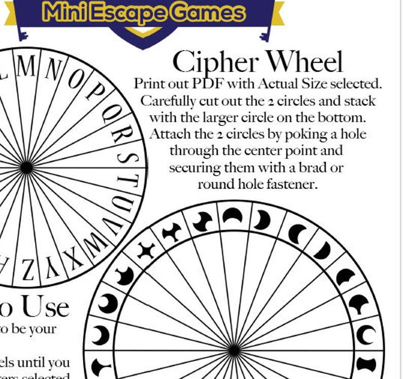 photograph regarding Cipher Wheel Printable identify Celestial Moon Levels Cipher Wheel, Spy Birthday Bash Favors, Escape Area Favors, Key Consultant Bash Favors, Fix The Puzzle Code Disk