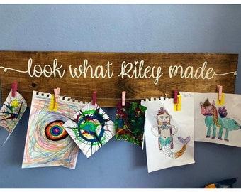 Kids Art Display Etsy